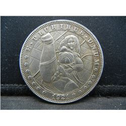 1921-D (BABE/MORGAN), NOT SILVER OR LEGAL TENDER, PERFECT FOR ANY AVID COIN COLLECTOR, NOVELTY/GREAT