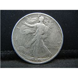1943 SILVER (90%) LIBERTY HALF, WWII ERA, (ONLY 53.1 MILL EVER MINTED), 76 YRS OLD, INCREDIBLE COIN!