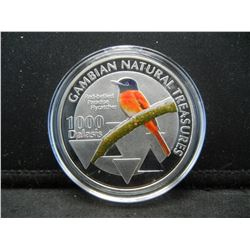 (RED BELLIED-PARADISE FLYCATCHER/1 OUNCE), PROOF, Encapsulated For Future Preservation, Novelty, NEW