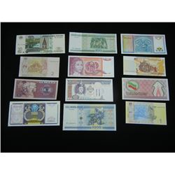 (12) FOREIGN NOTES (AMAZING COUNTRIES), CRISP