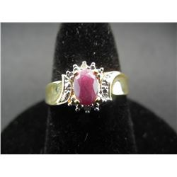 WOMAN'S RED RUBY RING (SIZE 7), FASHION JEWELRY, NEW/GREAT GIFT!
