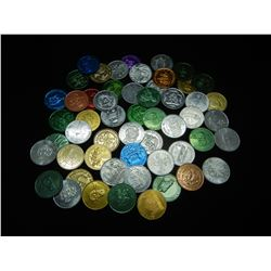 (50) AMAZING MARDI GRAS DOUBLOONS (GREAT ASSORTMENT), SELL INDIVIDUALLY, NEW/UNCIRCULATED!