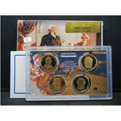 2009-S Presidential Proof Set:  Harrison, Tyler, Polk, Taylor. GEM in original box.