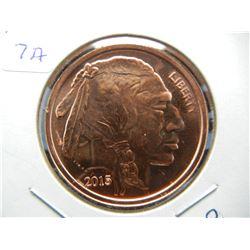 One-ounce copper round.  2015 Buffalo.  Proof-like.