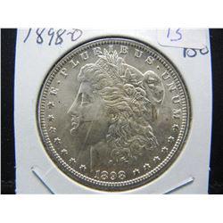 1898-O Morgan Silver Dollar.  GEM BU with great luster.