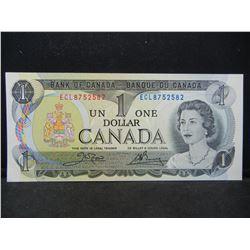 1973 Canada $1.  GEM Crisp Uncirculated.