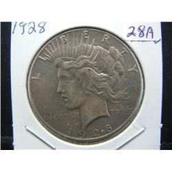 1928 Peace Dollar.  Almost Uncirculated.