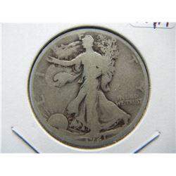 1921-D Walking Liberty Half.  Original Very Good.  The KEY!