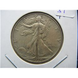 1934-D Walking Liberty Half. Extremely Fine 40.  Hard to find.