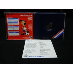 1994 World Cup Half Dollar in government package.  GEM Proof in original capsule.