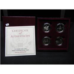 (4) coin 1995 and 96 Atlanta Olympics S Mint halves:  Basketball, Swimming, Baseball, and Soccer.