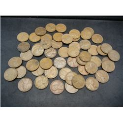 1941-S and 1940-S Wheat Cents.  Rolls of 50 Each.  Circulated.  Tough dates.