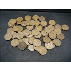 1942-S and 1944-S Wheat Cents.  Rolls of 50 Each.  Circulated.  Tough WWII dates.