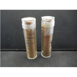1968 S and 1969-D Lincoln Memorial Rolls.  Nice red coins.
