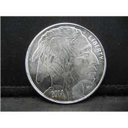 2014 .999 Silver Round Buffalo Proof