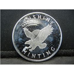 No Date .999 Silver Round Sunshine Mint