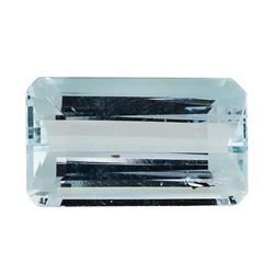 5.09 ct.Natural Emerald Cut Aquamarine