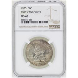 1925 Fort Vancouver Commemorative Half Dollar Coin NGC MS65