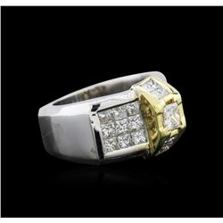 2.87 ctw Diamond Ring - 18KT White and Yellow Gold