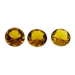 12.55 ctw.Natural Round Cut Citrine Quartz Parcel of Three