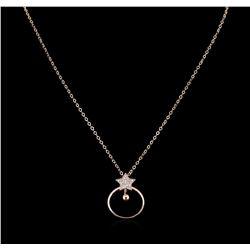 0.21 ctw Diamond Necklace - 14KT Rose Gold
