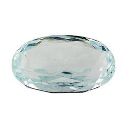6.98 ct.Natural Oval Cut Aquamarine