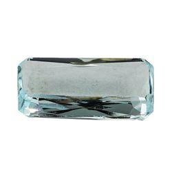 7.55 ct.Natural Emerald Cut Aquamarine