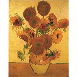 Vincent Van Gogh Vase With Sunflowers