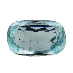 12.41 ct.Natural Cushion Cut Aquamarine
