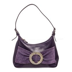 Lancaster Purple Leather Small Shoulder Bag