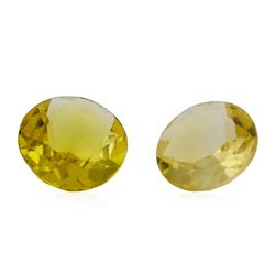 1.18 ctw.Natural Round Cut Citrine Quartz Parcel of Two