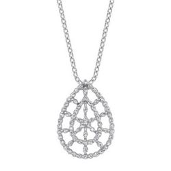 14k White Gold 0.52CTW Diamond Pendant, (I1-I2/H-I)