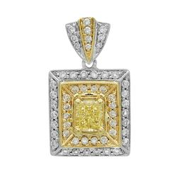 18k Gold 1.25CTW Diamond Pendant, (VS1 /VS1-VS2/G-H)