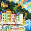 Image 2 : Portofino Harbor, Italy by Afremov, Leonid