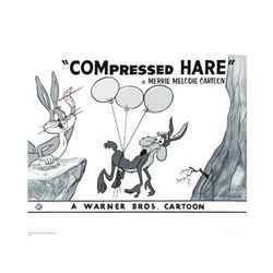 Warner Brothers Hologram Compressed Hare