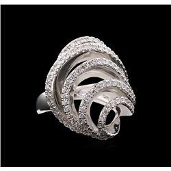 1.11 ctw Diamond Ring - 14KT White Gold