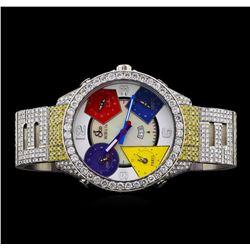 Jacob & Co. Stainless Steel Diamond Chronograph Watch