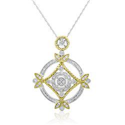 18k Two Tone Gold 0.54CTW Diamond Pendant, (SI1-SI1/H-I)