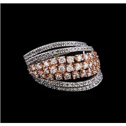 2.21 ctw Diamond Ring - 14KT Rose and White Gold