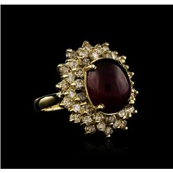 14KT Yellow Gold 9.94 ctw Ruby and Diamond Ring