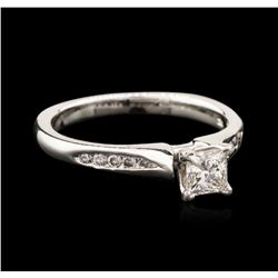 14KT White Gold 0.66 ctw Diamond Ring
