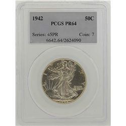 1942 Walking Liberty Half Dollar Proof Coin PCGS PR64