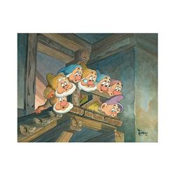 Top of the Stairs by Toby Bluth (1940-2013)