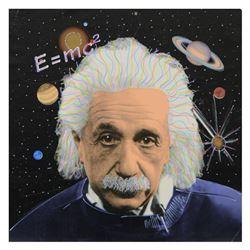 Einstein by Steve Kaufman (1960-2010)