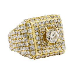 7.08 ctw Diamond Ring - 10KT Yellow Gold