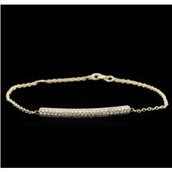 0.55 ctw Diamond Bracelet - 14KT Yellow Gold