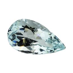 3.46 ct.Natural Pear Cut Aquamarine