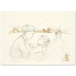 Playful Mother and Baby by Hibel (1917-2014)