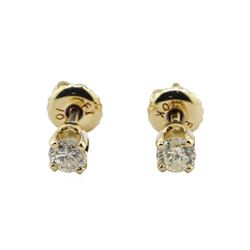 0.35 ctw Diamond Stud Earrings - 10KT & 14KT Yellow Gold