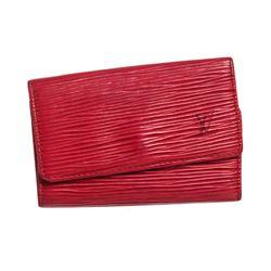Louis Vuitton Red Epi Leather 6 Key Holder